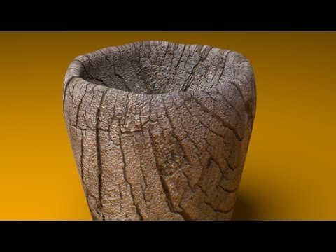 blender - http://www.LittleWebHut.com This Blender video demonstrates how to make an image of a old wooden cup. Blender's cycles render engine is used during this vide...