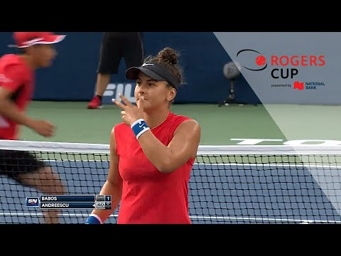 Relive Bianca Andreescu's Rogers Cup debut in 2017, when she battled Timea Babos in the first round in Toronto. Video provided courtesy of Sportsnet.