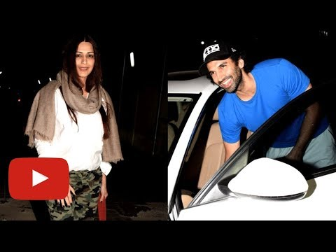 Aditya Roy Kapur & Sonali Bendre With Family Spott