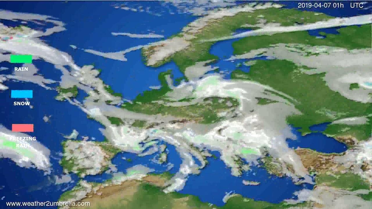 Precipitation forecast Europe // modelrun: 12h UTC 2019-04-03