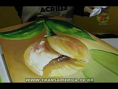 Tv Transamérica - Técnica: Pintura em tela com Acrylic Colors Acrilex - Parte2