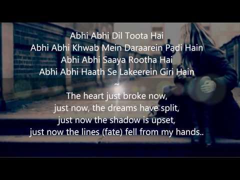 Video Abhi Abhi English Translation - Joh Hum Chahein download in MP3, 3GP, MP4, WEBM, AVI, FLV January 2017