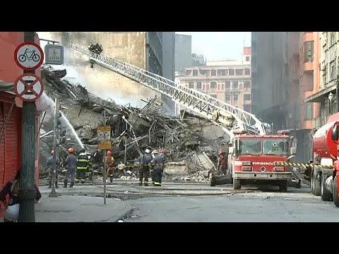 Βραζιλία: Κτίριο κατέρρευσε σαν τραπουλόχαρτα
