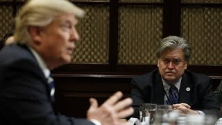 Steve Bannon, a combative and unorthodox Republican, is leaving the White House. President Donald Trump accepted his chief strategist's resignation on Friday, ending a turbulent seven months in the White House. (Aug. 18)Subscribe for more Breaking News: http://smarturl.it/AssociatedPress