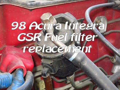 1994-2001 Acura Integra GSR fuel filter replacement