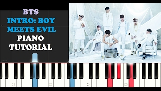 Video BTS - Intro: Boy Meets Evil (Piano Tutorial) MP3, 3GP, MP4, WEBM, AVI, FLV April 2018