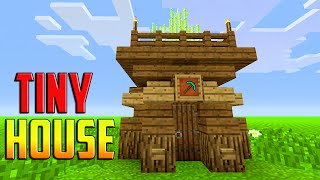 Miner House | Small, Compact , Easy | Minecraft: How To Build A Small Survival House Tutorial (2016)