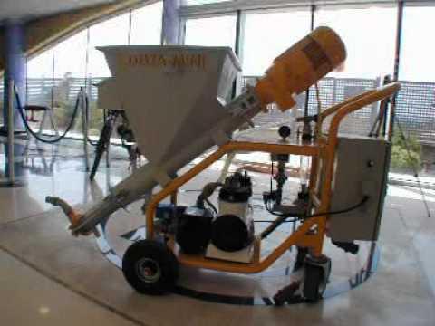maquina de yeso - Maquina de proyeccion y bombeo de yeso, mortero, monocapa...Lanzadora de mortero, lanzado de yeso, repello, pañete, repelladora, empañetadora, lanzadora de m...