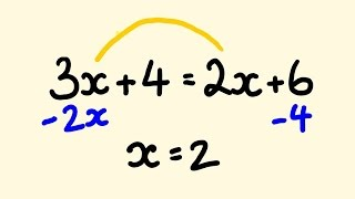 Algebra Shortcut Trick  - how to solve equations instantly (2)
