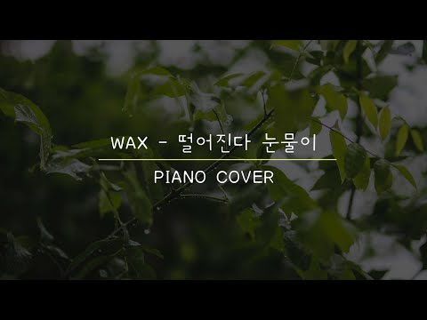 Video WAX - 떨어진다 눈물이 (Tears Are Falling) (I Miss You OST) (Piano Cover) download in MP3, 3GP, MP4, WEBM, AVI, FLV January 2017