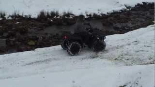 7. Yamaha Kodiak 400cc 4x4 in the snow