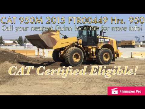 CATERPILLAR RADLADER/INDUSTRIE-RADLADER 950M equipment video 9Q3U7TpfOPw