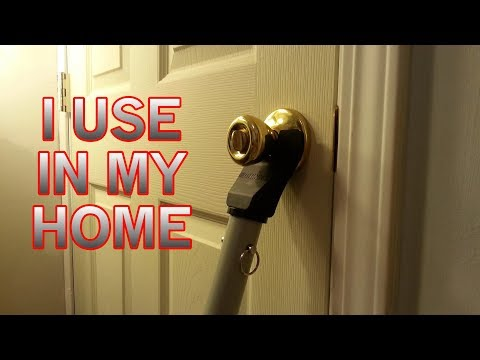 Feel Safe at Home Doorknob Stopper - Door Brace Security Bar