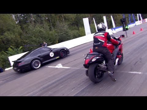 suzuki gsx1300 vs porsche 911 switzer r750...an incredible race
