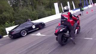 Suzuki GSX1300 vs Porsche 911 Switzer R750 - YouTube