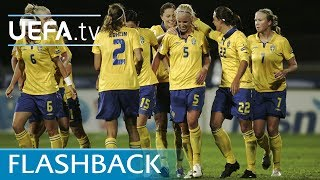 See Caroline Seger score with a brilliant shot into the top corner when Sweden beat Russia 3-0 eight years ago.Subscribe: http://www.youtube.com/subscription_center?add_user=uefaFacebook: https://www.facebook.com/uefacomTwitter: https://twitter.com/UEFAcomG+: https://plus.google.com/+UEFAcomhttp://uefa.comUCOM