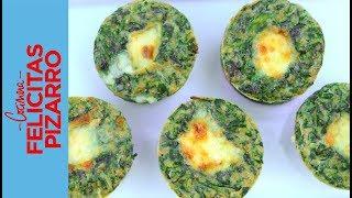 B - Cocina vegetariana: muffins de espinaca y queso
