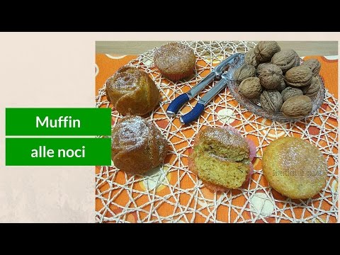 video ricetta: muffin alle noci