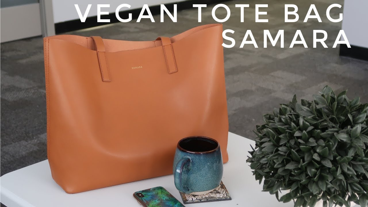 VEGAN TOTE BAG SAMARA + A DAY IN THE LIFE | Thefabzilla