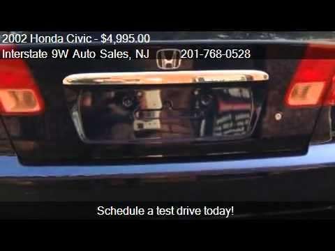 2002 honda civic ex sedan - Interstate 9W Auto Sales 434 Demarest Ave in Closter, NJ 07624 Come test drive this 2002 Honda Civic EX sedan for sale in Closter, NJ. http://www.interstate9...