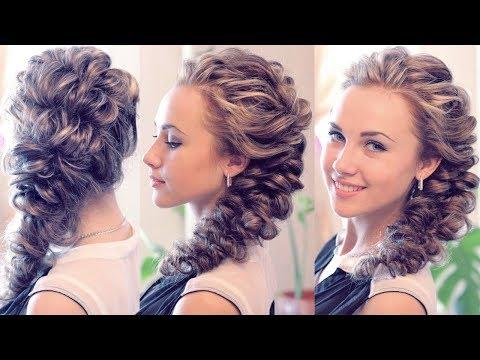 Прически из косы на средние волосы