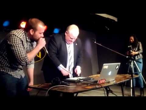 Rob Ford drops a beat