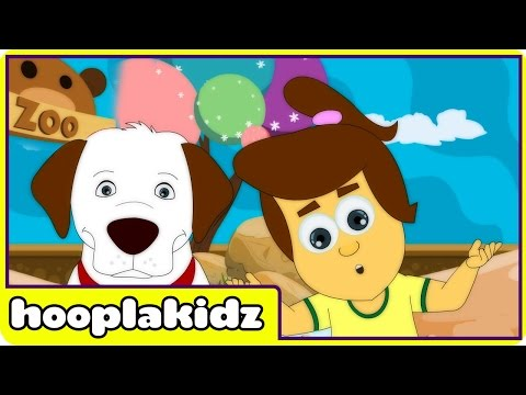 hooplakidz - To watch all popular nursery rhymes, click here http://bit.ly/19Wxnri We're going to the Zoo tomorrow, it is a popular fun animal song video for children. Th...