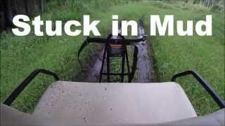 SUBSCRIBE:  We just had a big rain storm that passed so me and my boys decided to have a Golf Cart Mudding Adventure.  We also got stuck in the mud.  Check it out.