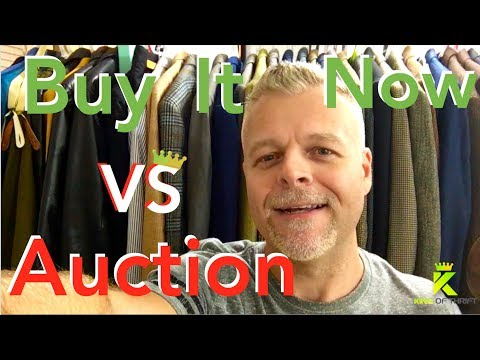 BUY IT NOW vs AUCTION. Selling on Ebay. HOW Should You List Items to Sell on eBay