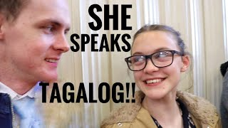 Foreigners speak Tagalog