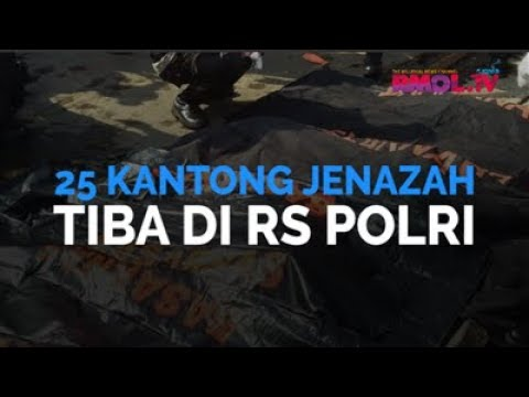 25 Kantong Jenazah Tiba Di RS Polri