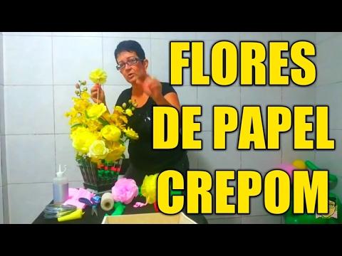 Flores de Papel - Flores para todos os eventos! Este é o primeiro vídeo de uma série, onde eu ensino de um jeito simples a fazer flores de papel crepom. Se você sentir dificul...