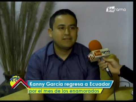 Kanny García regresa a Ecuador por el mes de los enamorados