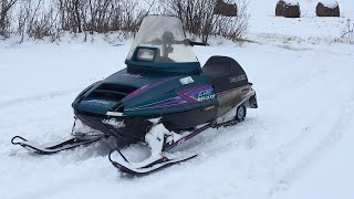 4. Snowmobiling! 1996 Polaris Indy Lite Deluxe 340 (New subject!)