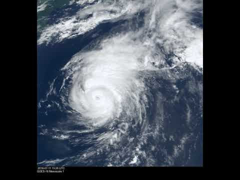 GOES-16 Mesoscale 01 - 2018/07/11 (Hurricane Chris)