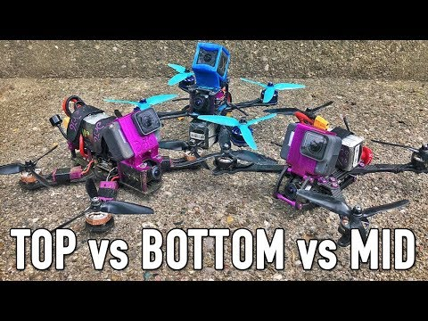Top VS Bottom VS Mid Mount Battery for FPV Freestyle? (видео)