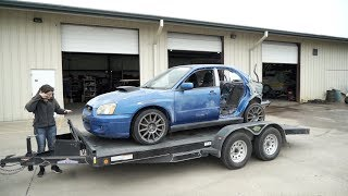 WRECKED WRX IS GOING TO A BETTER PLACE... Rebuild Pt. 8 by Evan Shanks