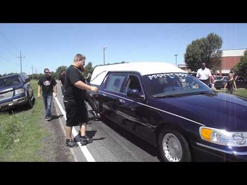 Hearse burnout for Tyler (Flip) - Street Outlaws