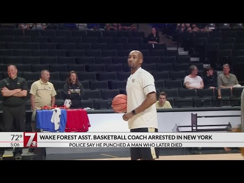 Wake Forest assistant basketball coach arrest