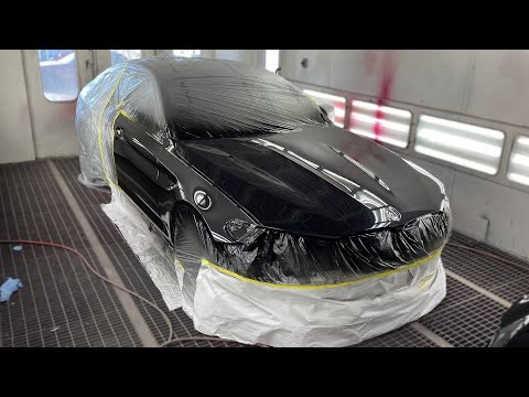 Painting the rebuilt BMW M5 F90 - Episode 7