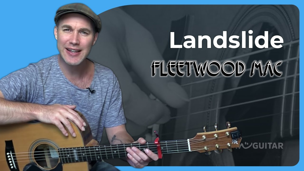 Landslide – Fleetwood Mac – Fingerstyle Acoustic Guitar Lesson (SB-426) Lindsey Buckingham