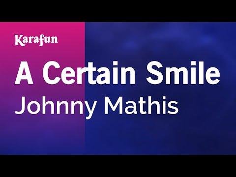 Karaoke A Certain Smile - Johnny Mathis