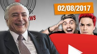 """A votação sobre a denúncia contra o bananão do Temer por corrupção foi mais um show de horrores protagonizado pela câmara dos deputados #OtarioNewsLOJINHA http://canaldootario.com.br/store/CAMISETAS http://canaldootario.com.br/loja2/SE INSCREVE AÍ NESSA BAGAÇA http://bit.ly/2dlmOXnTORNE-SE MEU PATRÃO ;-) http://www.patreon.com/CanalDoOtarioDOAÇÕES http://www.canaldootario.com.br/doacoes/Acesse o site http://CanalDoOtario.com.brLojinha do Canal do Otário http://canaldootario.com.br/store_Utilize o código: CANALDOOTARIO na primeira corrida do UBEREste código oferece uma viagem com desconto de até R$20 para novos usuários. O código é válido até 31/12/17 e é exclusivo para novos usuários.Abaixo segue um passo a passo para o uso do código.1º Baixar o Uber e/ou abrir o aplicativo http://ubr.to/2cxGDbL 2º Clicar no menu superior esquerdo (três traços do canto superior esquerdo).3º Clicar em promoções.4º Clicar em """"Adicione um código promocional"""".5º Escrever CANALDOOTARIO e clicar em aplicar.Para mais informações, fontes e links extras acesse:http://www.canaldootario.com.br/videos/vitoria-de-temer-lula-reu-6-vezes-e-recorde-de-felipe-neto-e-lucas-neto/Agradecimentos Especiais aos Patrões:Delcio JuniorBruno BezerraMarcelo FerreiraRafael CostaAndré CastroRaphael AmorimPlínio DutraEdu CruzDaniel LacerdaLuciano CamposPedro VieiraMike MorcerfR SouzaObrigado, Patrões! O apoio financeiro ao Canal através do Patreon, está sendo fundamental para manter o Canal vivo e fazer vídeos como este!___Música e efeitos sonoros:Diego Vilas Boas"""