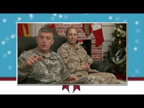 Happy holidays from MG Wayne W. Grigsby Jr. and SgtMaj Bonnie Skinner at Combined Joint Task Force - Horn of Africa.