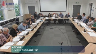 AGENDA (To view individual agenda items click on the links below)1. Declarations of Interest 00:03:032. Minutes 00:03:103. Public Participation 00:04:174. (Part 1) City of York Local Plan 00:26:154. (Part 2) City of York Local Plan 01:36:00For full agenda, attendance details and supporting documents visit:http://democracy.york.gov.uk/ieListDocuments.aspx?CId=128&MId=10364