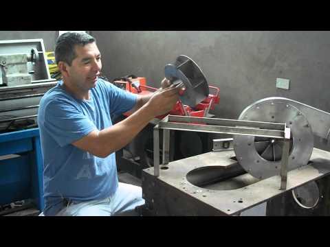 Como se balancear  un ventilador de siroco. por Johnny Osinaga Ordóñez.