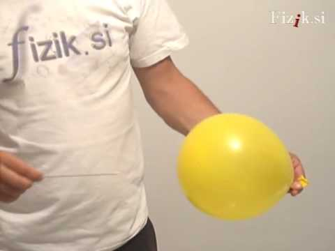 Balloon trick - physics experiment