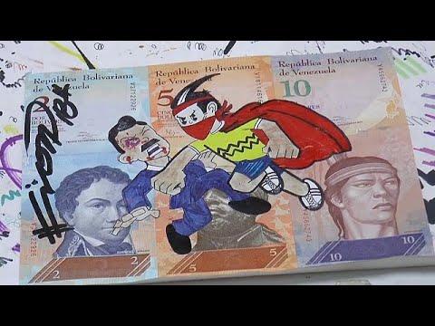 Kunst aus wertlosen Bolivar-Scheinen