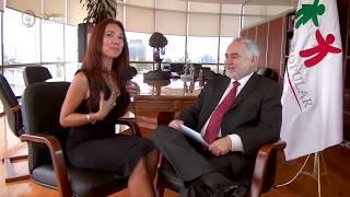Emotiva entrevista de Denisse Wolf con el Comisionado Dr O'Shea, titular del seguro Popular, un ciudadano ejemplar. Mundo Ejecutivo TV