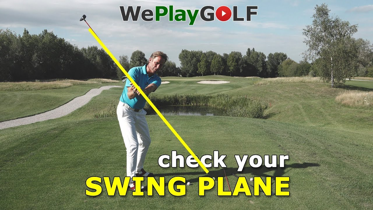 How to check your swing plane on the golf course